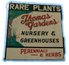 Thomas Gardens' sign on Rt. 13 New Curch VA